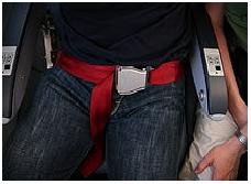 Lap Seat Belt still used in Aeroplanes
